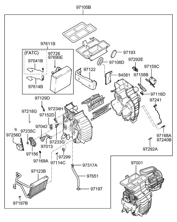 2005 Hyundai Tucson Heater System-Heater & Evaporator