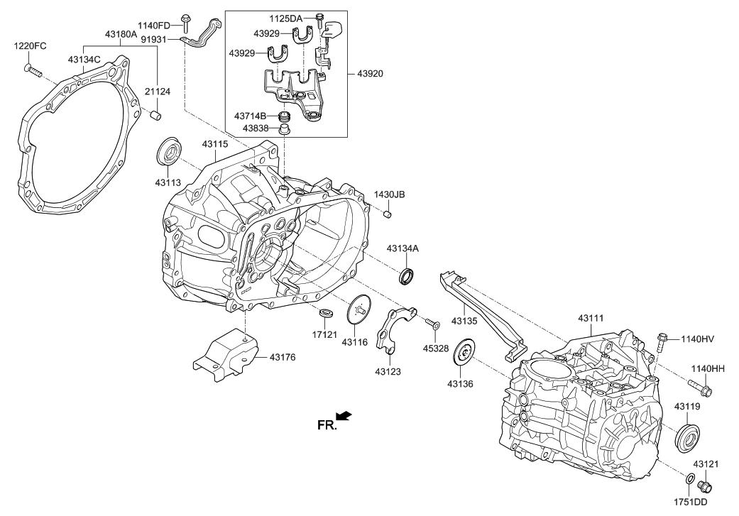 2012 Hyundai Veloster Transaxle Case-Manual - Hyundai Parts Deal
