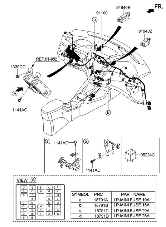 91148 2v450 genuine hyundai wiring assembly main. Black Bedroom Furniture Sets. Home Design Ideas