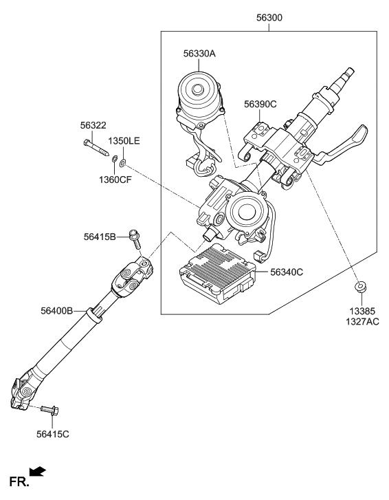 2011 Hyundai Veloster Steering Column & Shaft