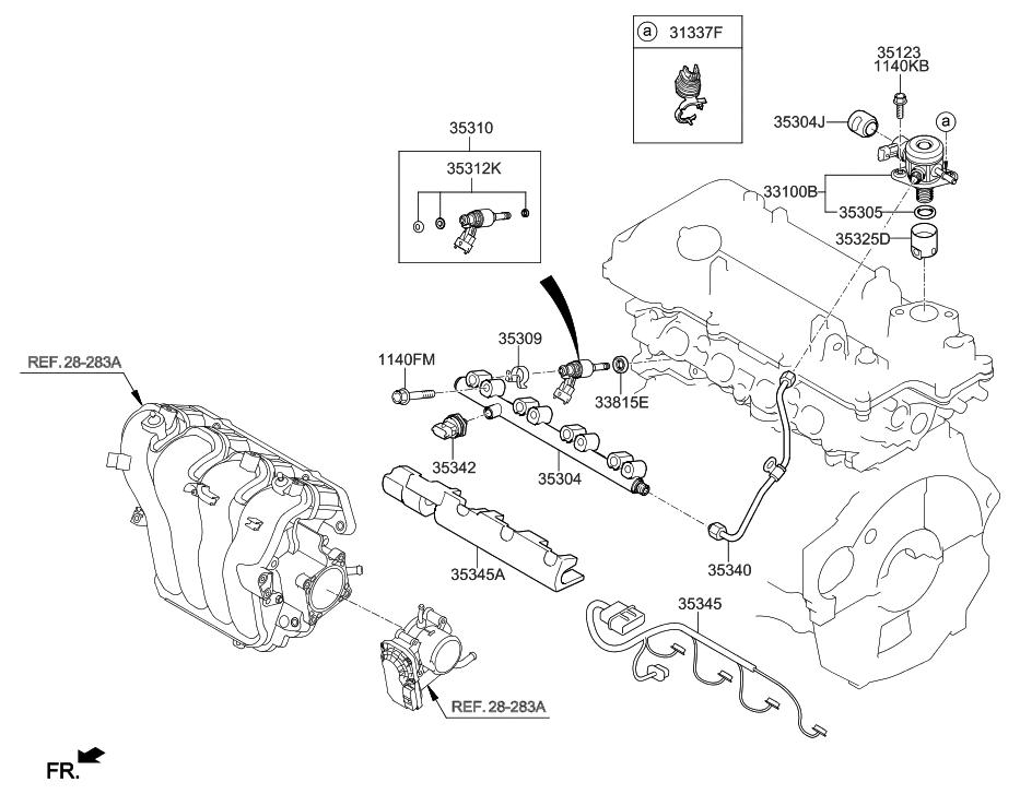 2012 hyundai veloster throttle body injector rh hyundaipartsdeal com