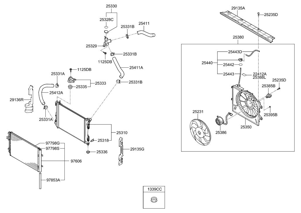 2012 Hyundai Veloster Engine Cooling System - Thumbnail 1