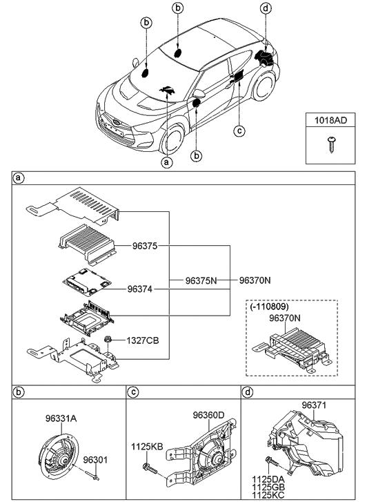 2013 Hyundai Veloster Speaker Hyundai Parts Deal
