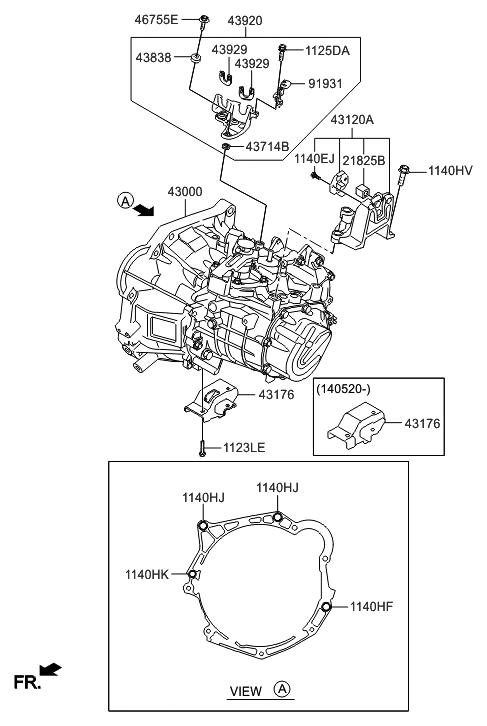 430002A001  Genuine    Hyundai    TRANSMISSION ASSEMBLY   MANUAL