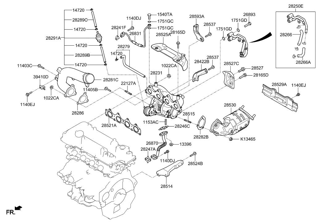 Awe Inspiring 28231 2B740 Genuine Hyundai Turbocharger Wiring Cloud Scatahouseofspiritnl