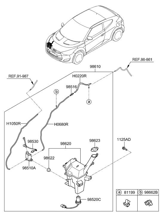 2015 Hyundai Veloster Windshield Washer Hyundai Parts Deal