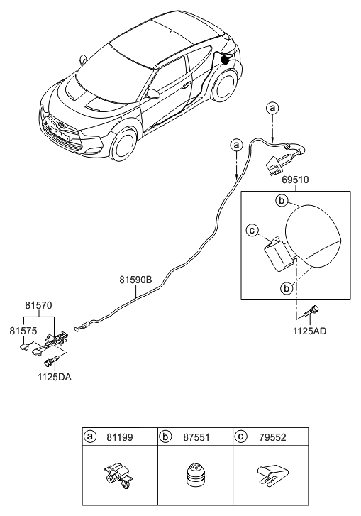 2016 Hyundai Veloster Fuel Filler Door Hyundai Parts Deal