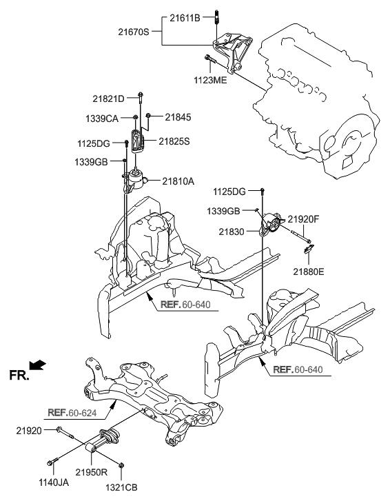 2016 Hyundai Veloster Engine  U0026 Transaxle Mounting