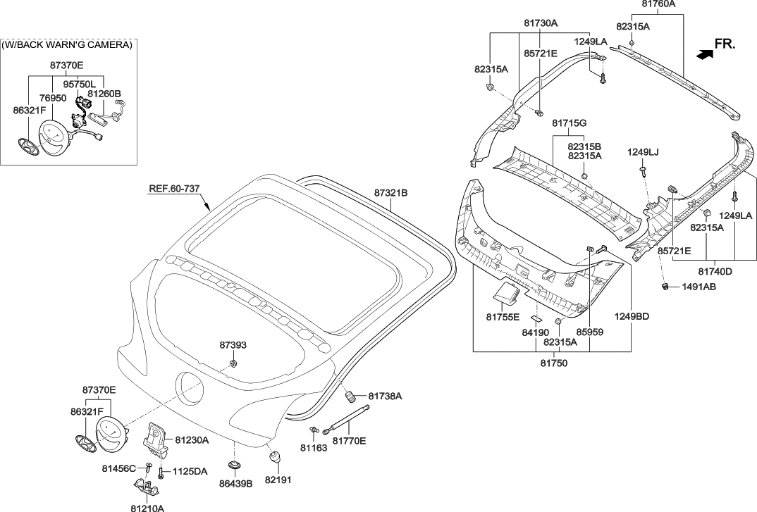 81230 2v000 genuine hyundai latch assembly tail gate rh hyundaipartsdeal com Chevy S10 Tailgate Parts Diagram Chevy S10 Tailgate Parts Diagram