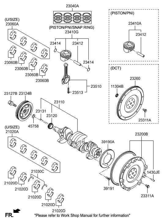 23200 2b590 Genuine Hyundai Flywheel Dual Mass