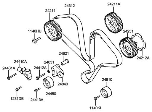 2003 Hyundai Xg350 Engine Diagram