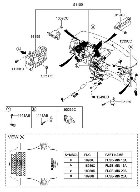 2008 Hyundai Elantra Touring Main Wiring - Hyundai Parts Deal