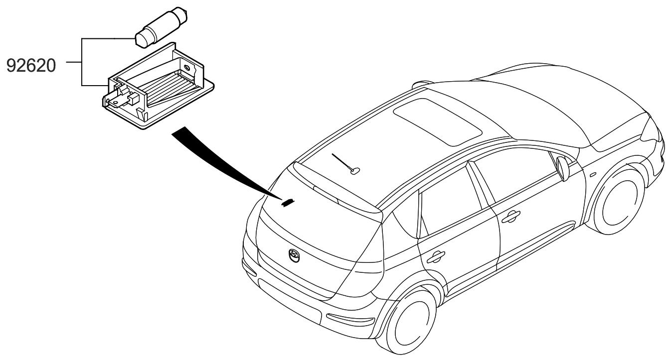 2010 Hyundai Elantra Touring Luggage Lamp Hyundai Parts Deal