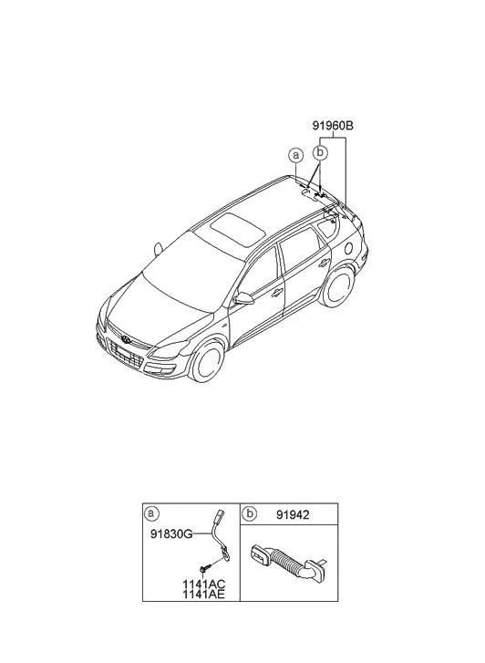 2009 Hyundai Elantra Touring Trunk Lid Wiring