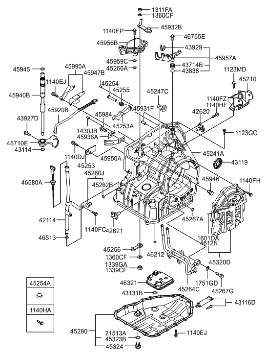 Hyundai Elantra Transmission Diagram