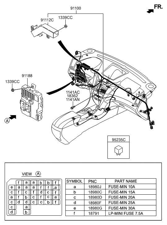 2015 Hyundai Sonata Hybrid Main Wiring