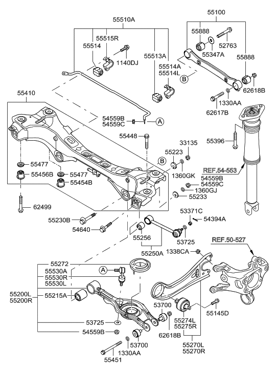 2013 hyundai sonata hybrid rear suspension control arm
