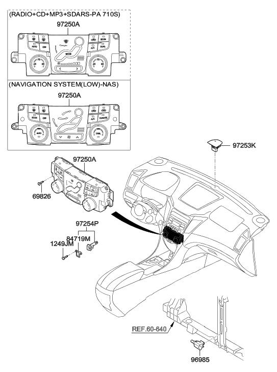 2012 Hyundai Sonata Hybrid Heater System-Heater Control