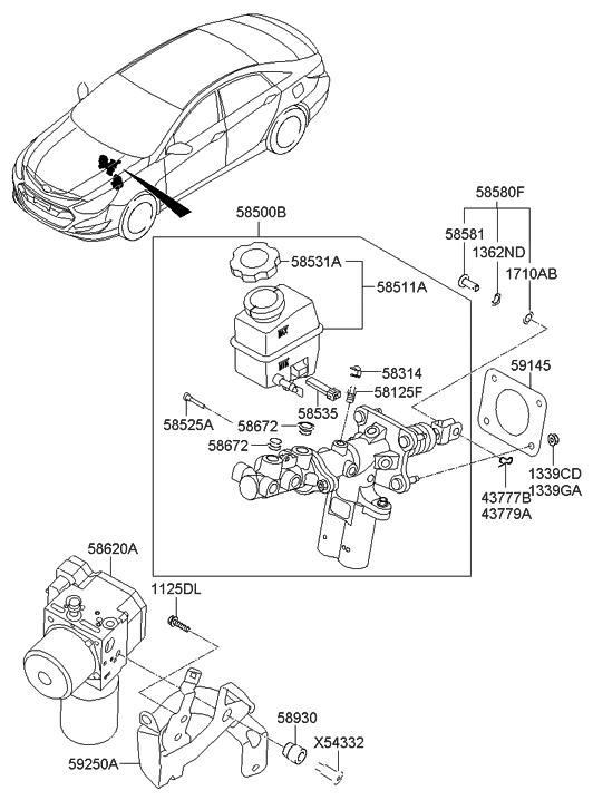 58620 4r001 Genuine Hyundai Hydraulic Power Unit Assembly