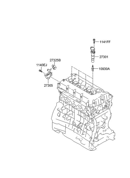 2013 Hyundai Sonata Hybrid Spark Plug & Cable