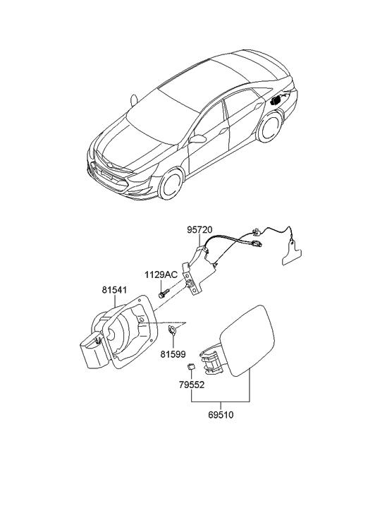 2011 hyundai sonata hybrid fuel filler door