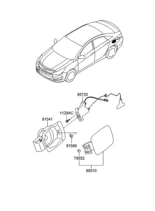 2011 Hyundai Sonata Hybrid Fuel Filler Door Hyundai Parts Deal