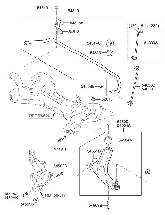 2011 hyundai sonata hybrid front suspension control arm