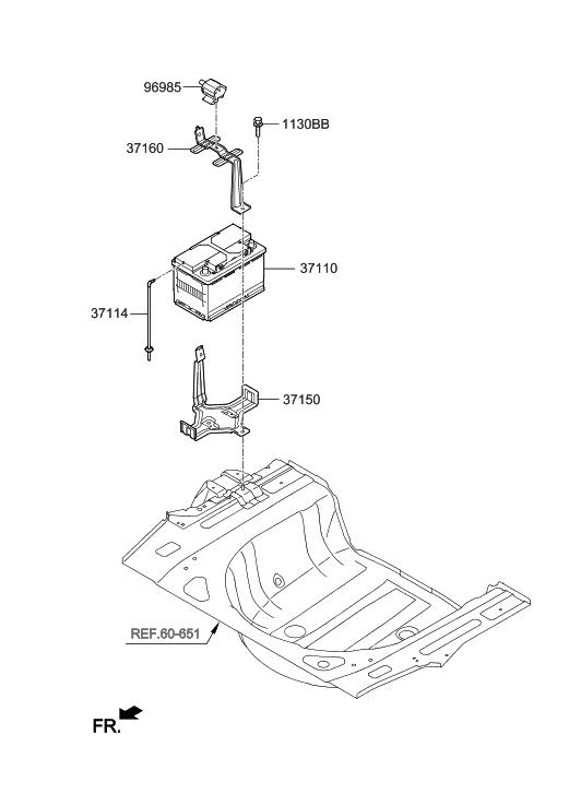 37586 4r001 Genuine Hyundai Safety Plug Assembly Male