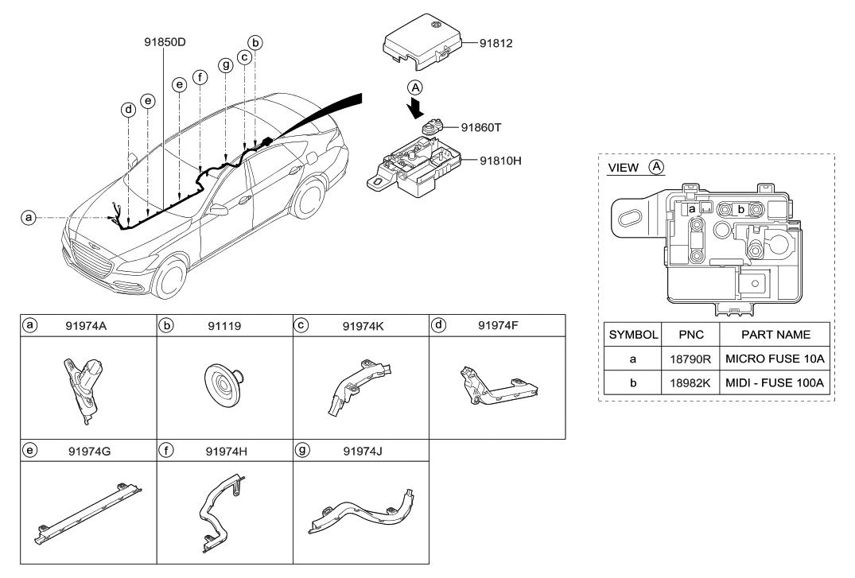2018 Hyundai Genesis G80 Miscellaneous Wiring on