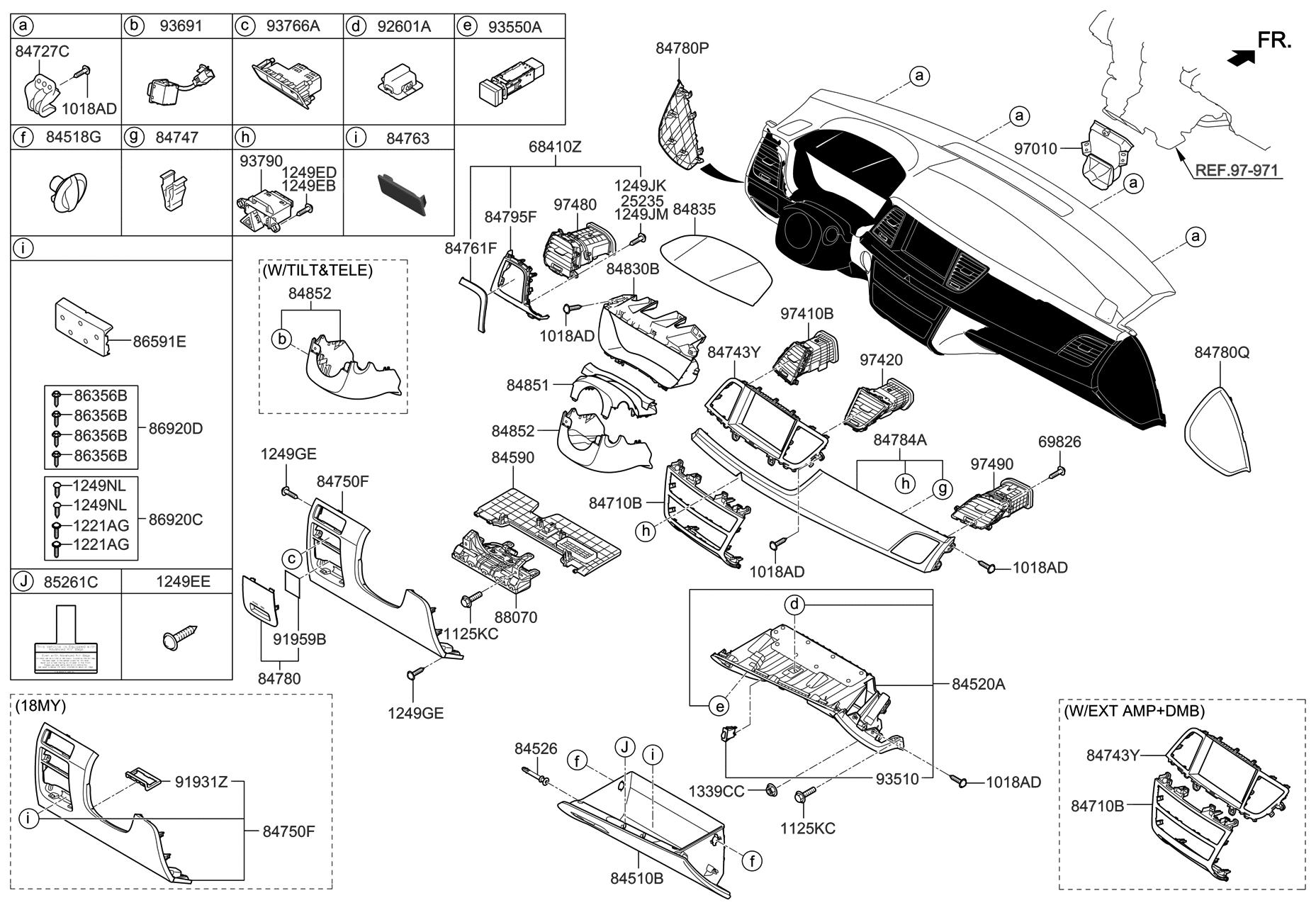 84753 B1ac0 Rnb Genuine Hyundai Cover Assembly Fuse Box