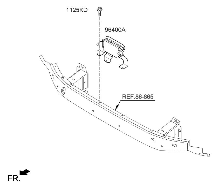 Awe Inspiring 96400 B1120 Genuine Hyundai Unit Assembly Smart Cruise Control Wiring Digital Resources Remcakbiperorg