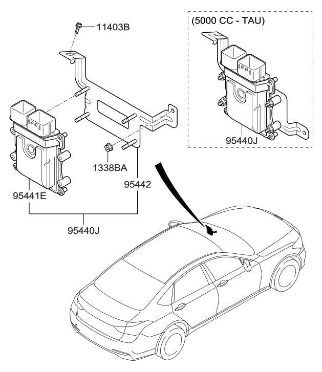 2018 Hyundai Genesis G80 Transmission Control Unit