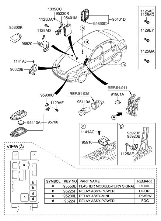 2010 hyundai accent relay module hyundai parts deal. Black Bedroom Furniture Sets. Home Design Ideas