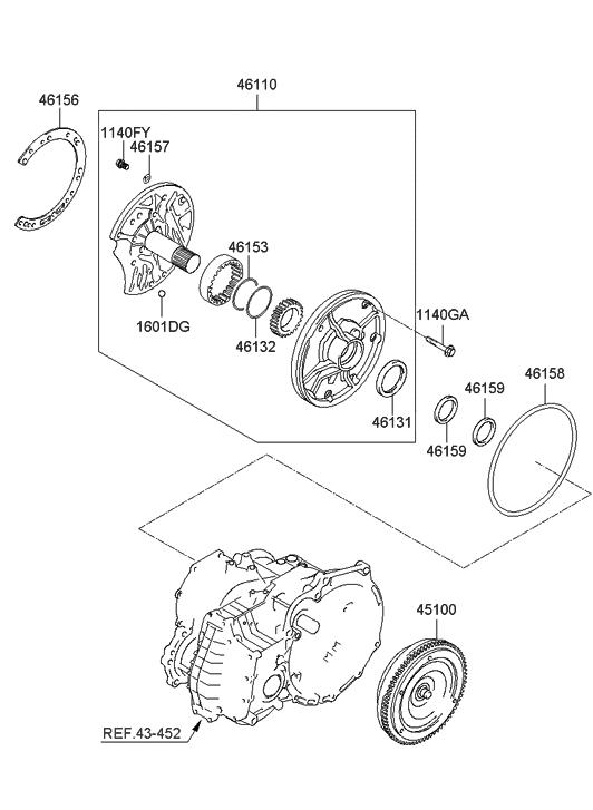 2010 Hyundai Accent Auto Transmission Torque Converter