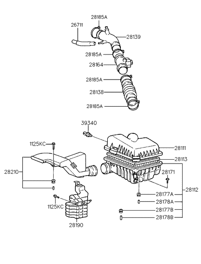 [DIAGRAM_34OR]  1997 Hyundai Elantra Air Cleaner - Hyundai Parts Deal | 1997 Hyundai Elantra Engine Diagram |  | Hyundai Parts