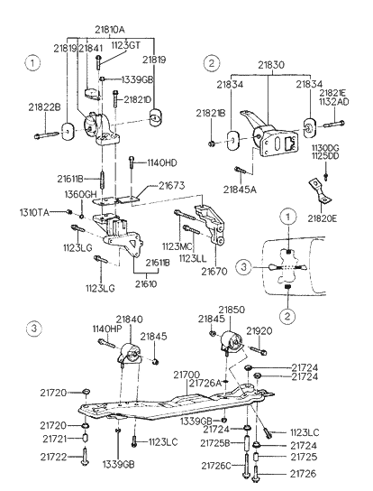 [DIAGRAM_5UK]  1997 Hyundai Elantra Engine & Transaxle Mounting | 1997 Hyundai Elantra Engine Diagram |  | Genuine Hyundai Parts
