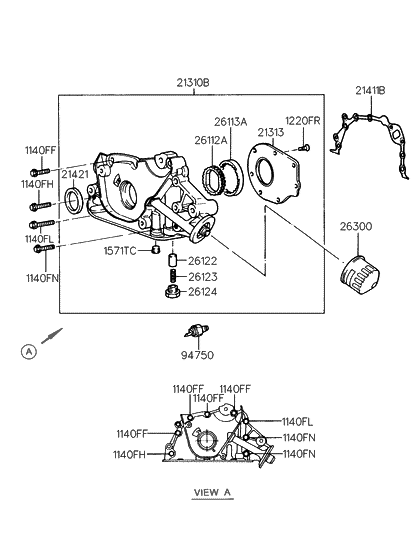 Gear Oil Pump Diagram