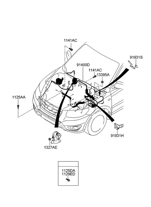 Hyundai Santa Fe Wiring Assembly Control