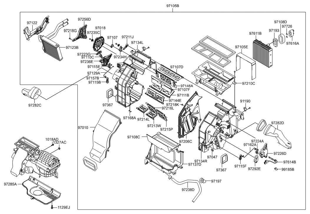 Genuine Hyundai 97155-1E000 Heater Bracket