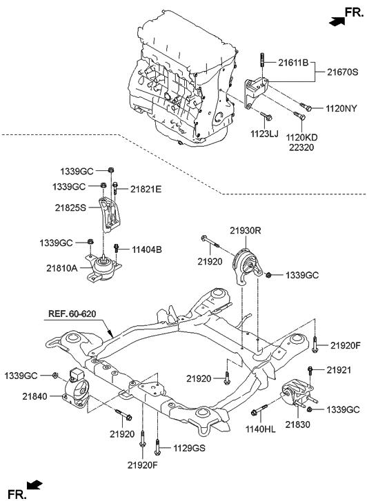 p genuine hyundai bracket assembly engine mounting