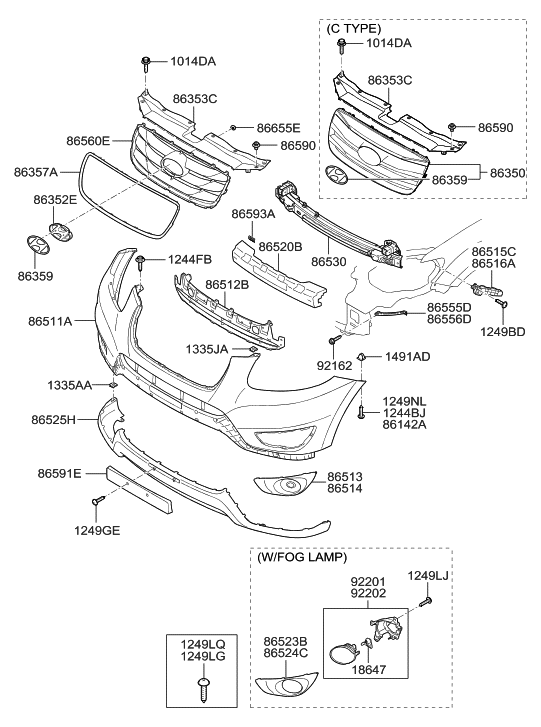 2010 Hyundai Santa Fe Parts Diagram Radiator • Wiring