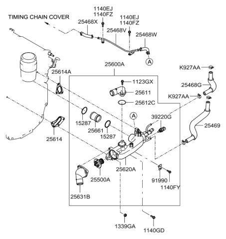 [SCHEMATICS_44OR]  2007 Hyundai Entourage Coolant Pipe & Hose - Hyundai Parts Deal | 2007 Hyundai Entourage Engine Diagram |  | Genuine Hyundai Parts