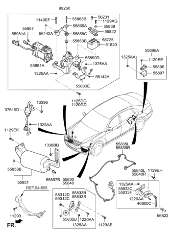 Genuine Hyundai 55835-3M250 Lead Wire Assembly