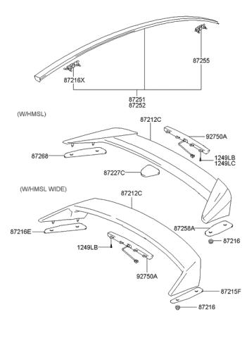 Genuine Hyundai 87211-2C000 Spoiler Rear