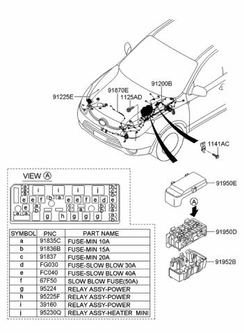 [SCHEMATICS_49CH]  91870-3J014 - Genuine Hyundai WIRING HARNESS-FEM | Veracruz Wiring Diagram |  | Genuine Hyundai Parts