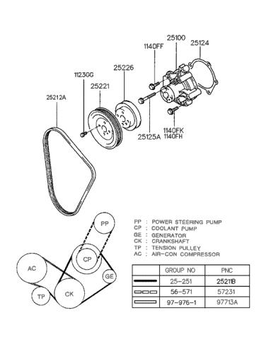 [SODI_2457]   1997 Hyundai Tiburon Coolant Pump (Beta Engine) | 1997 Hyundai Tiburon Engine Diagram |  | Genuine Hyundai Parts