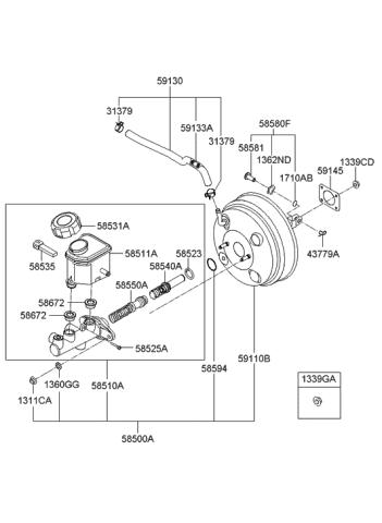 Genuine Hyundai 58535-21301 Level Indicator Switch Assembly