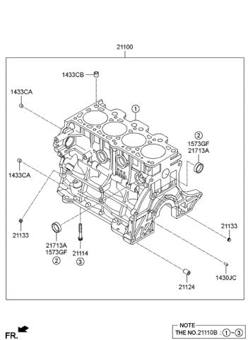 [EQHS_1162]  2007 Hyundai Tucson Cylinder Block - Hyundai Parts Deal | 2007 Hyundai Tucson Engine Diagram |  | Genuine Hyundai Parts