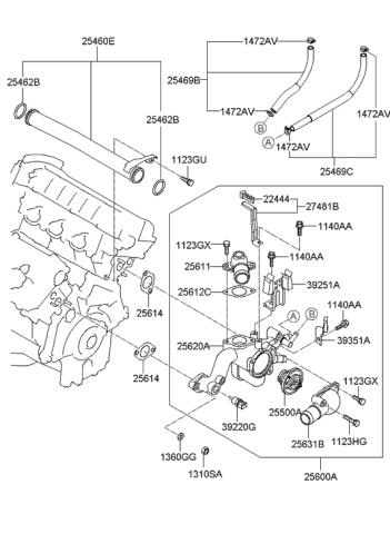 [ZHKZ_3066]  2007 Hyundai Tucson Coolant Pipe & Hose - Hyundai Parts Deal | 2007 Hyundai Tucson Engine Diagram |  | Genuine Hyundai Parts