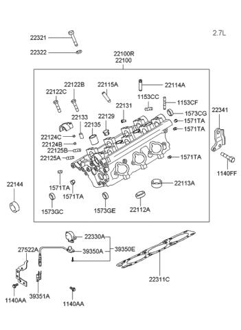 2002 Hyundai Sonata Cylinder Head - Hyundai Parts DealGenuine Hyundai Parts